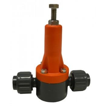 """Перепускной (редукционный) клапан до 1050 л/ч PVC-EPDM/PTFE, 1/2"""" Gf"""